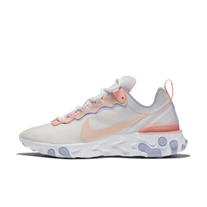Nike React Element 55 'Pale Pink' zijaanzicht