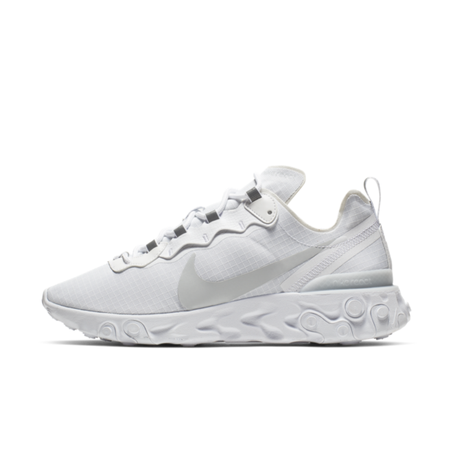 Nike React Element 55 'Triple White' zijaanzicht