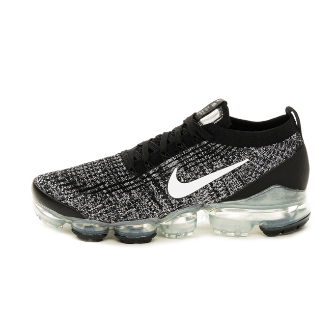 Nike Air Vapormax Flyknit 3 (Black / White - Metallic Silver)