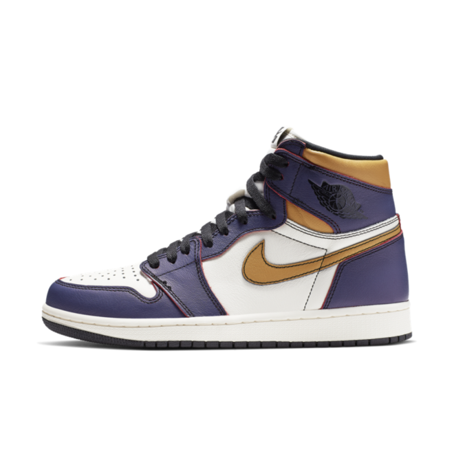 Nike SB X Air Jordan 1 OG 'Lakers' zijaanzicht