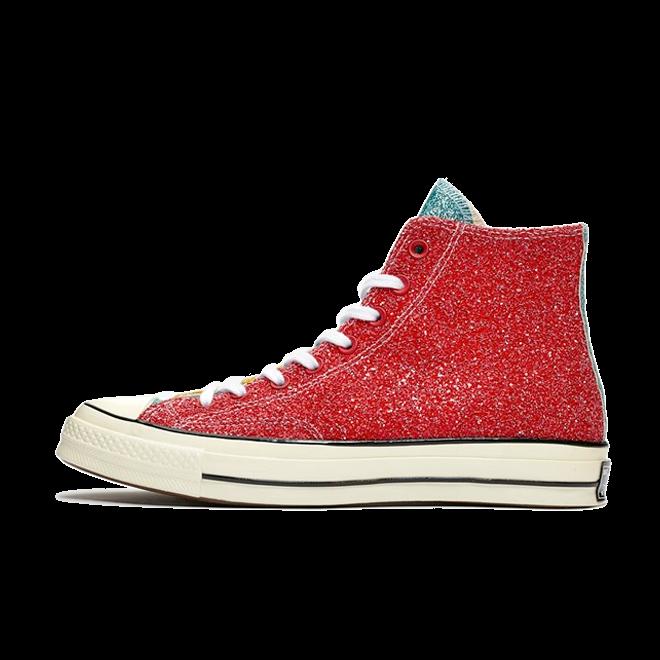 JW Anderson X Converse Chuck 70 'Red Glitter' zijaanzicht