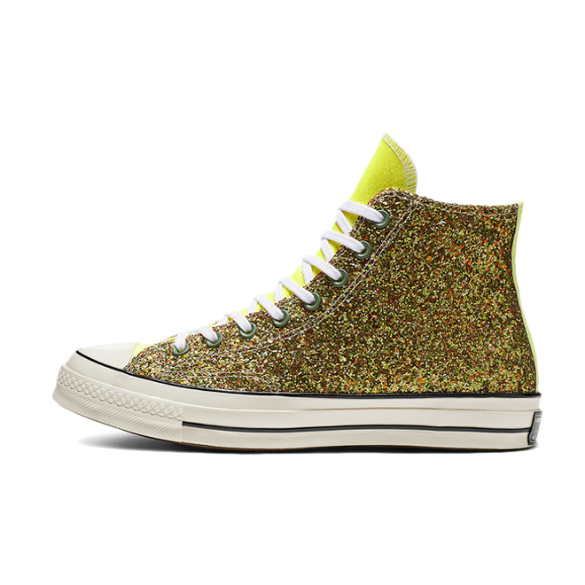 JW Anderson X Converse Chuck 70 'Gold Glitter' zijaanzicht