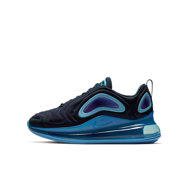 Nike Air Max 720 (GS) Obsidian/ Obsidian-Royal Pulse zijaanzicht