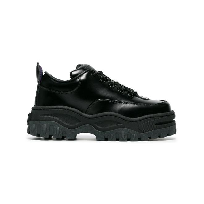 Eytys Black Angel Lift Leather Platform Sneakers - Zwart