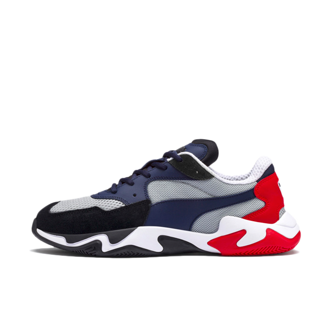 Puma Storm Origin 'Blue Red' zijaanzicht
