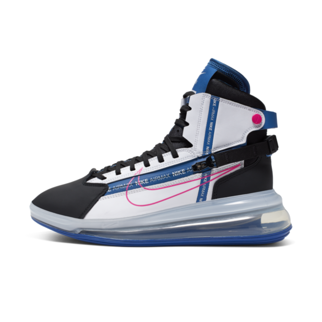Nike Air Max 720 Saturn 'Laser Pink/Blue' zijaanzicht