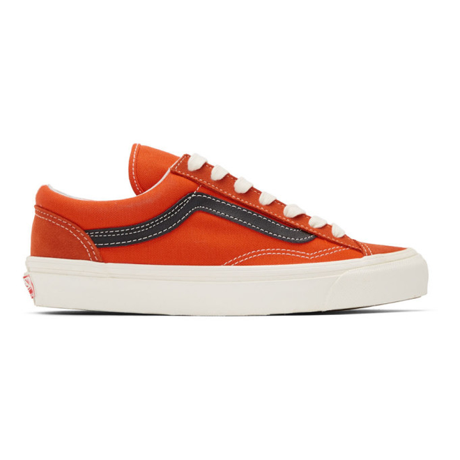 Vans OG Style 36 LX (Red Orange / Black)