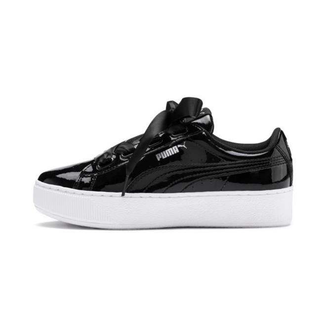 Puma Vikky Platform Ribbon Patent Girls Sneakers   370124_01