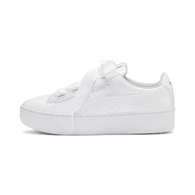 Puma Vikky Platform Ribbon Patent Girls Sneakers