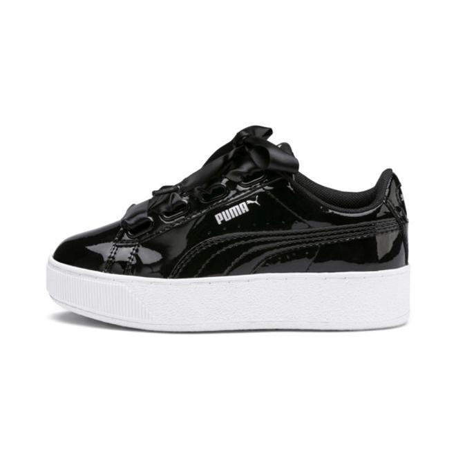 Puma Vikky Platform Ribbon Patent Kids Sneakers