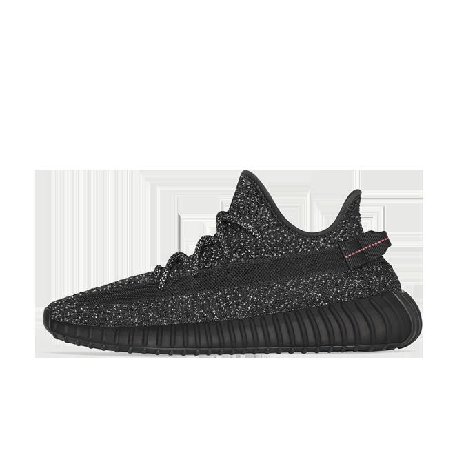 adidas Yeezy Boost 350 Black 'Reflective' zijaanzicht