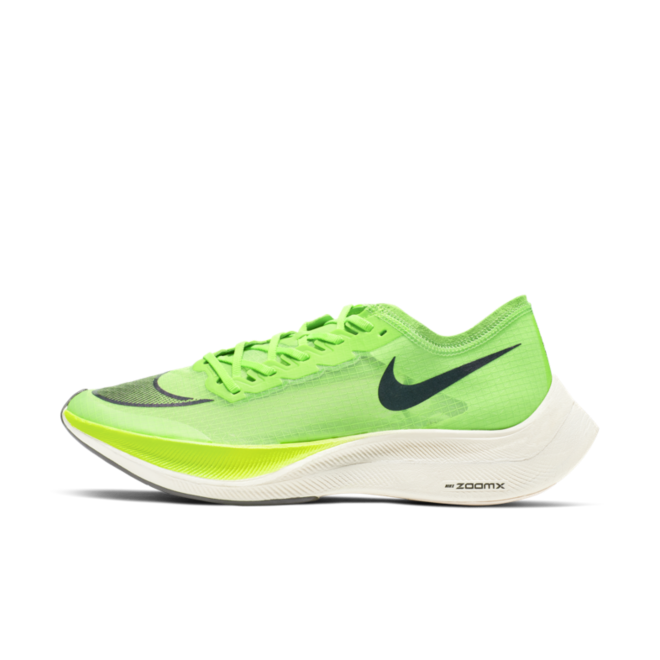 Nike ZoomX Vaporfly Next 'Electric Green' zijaanzicht