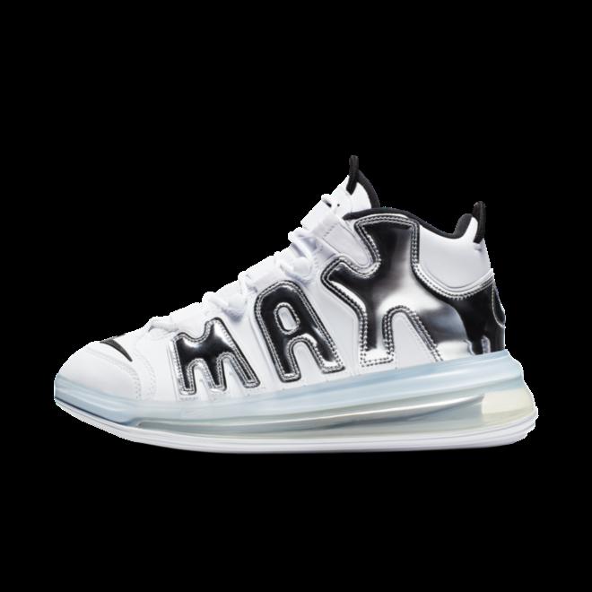 Nike Air Uptempo 720 'White & Silver' zijaanzicht