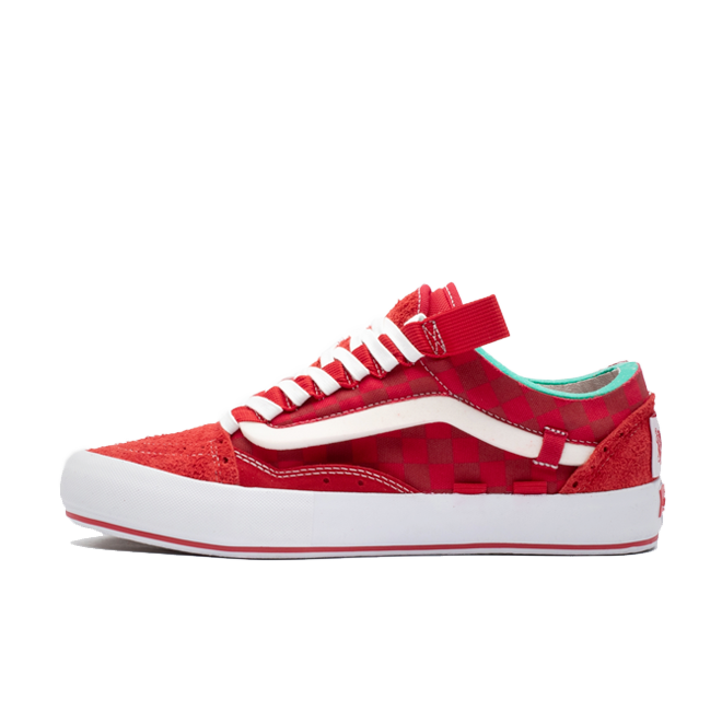 Vans Old Skool Cap LX 'Racing Red' zijaanzicht
