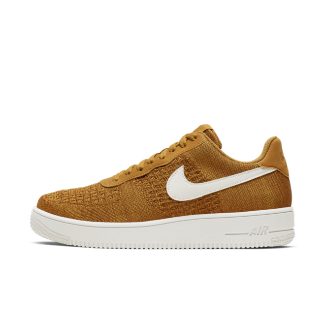 Nike Air Force 1 Flyknit 2.0 'Gold Suede' CI0051-700