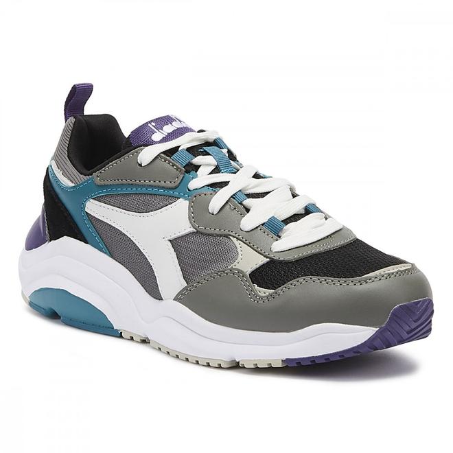 Diadora Whizz Run Mens Grey / Blue Trainers