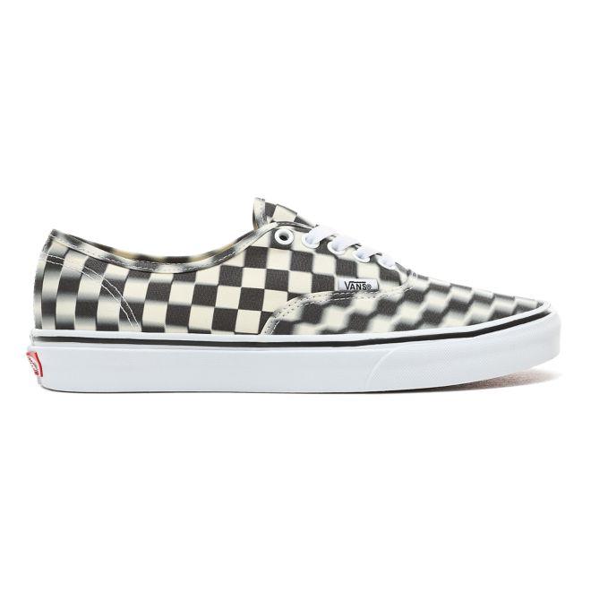 Vans Authentic Black Blur Checkerboard Trainers