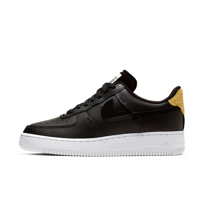 Nike Air Force 1 Inside Out 'Black' zijaanzicht