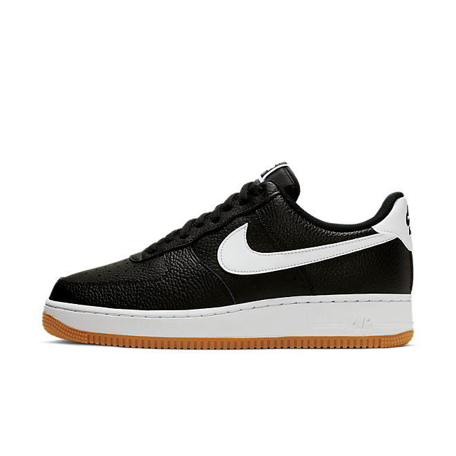 Nike Air Force 1 ' 07 Black White Wolf Grey Gum Med Brown