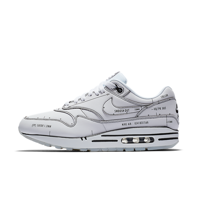 Nike Air Max 1 'Sketch to Shelf' White zijaanzicht