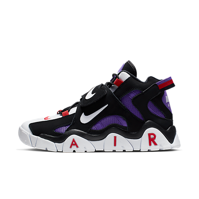 Nike Air Barrage Mid QS (Black / White - Hyper Grape - University Red) CD9329 001