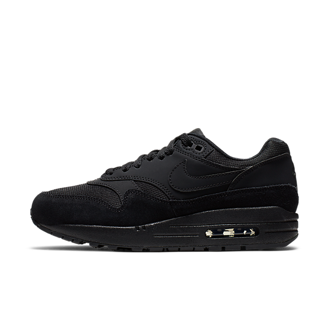 Nike WMNS Air Max 1 'Triple Black' zijaanzicht