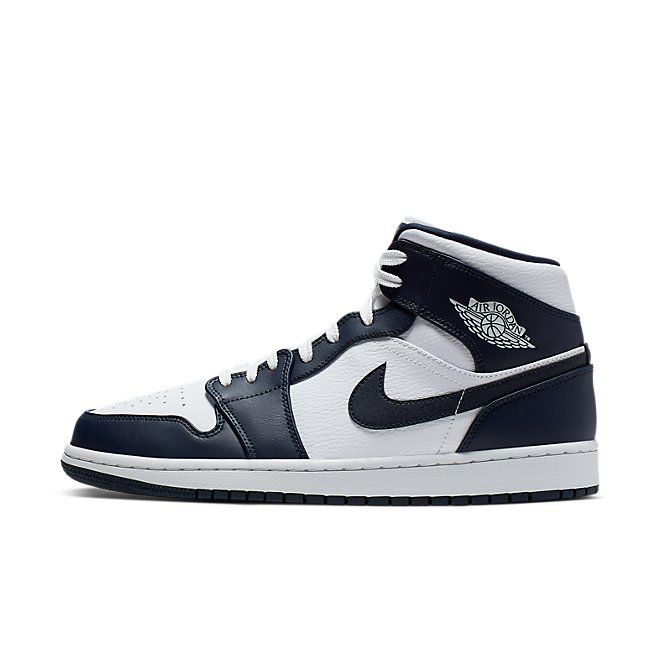 Nike Air Jordan 1 Mid (White / Metallic Gold - Obsidian) 554724 174