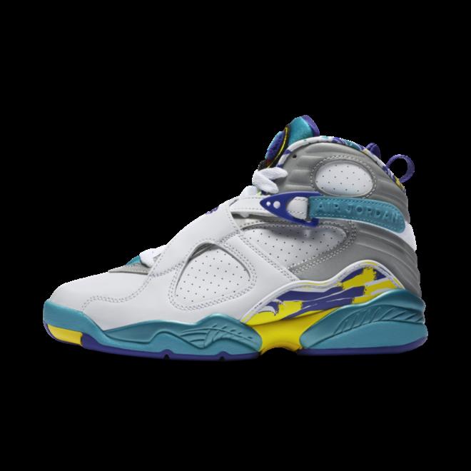 Air Jordan 8 'White Aqua' zijaanzicht