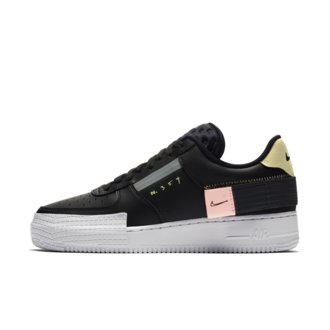 Nike Air Force 1 Type 'N354' - Black zijaanzicht