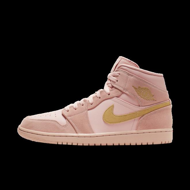 Air Jordan 1 Mid 'Pink Suede' zijaanzicht