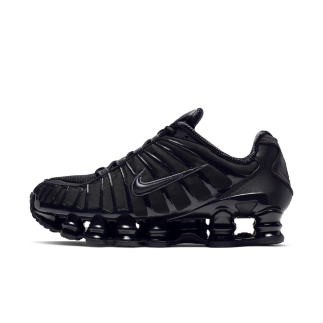 Nike Shox TL 'Triple Black' zijaanzicht