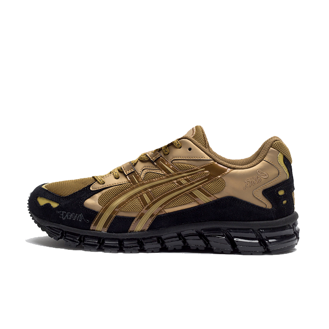 Awake x ASICS Tiger Gel-Kayano 5 360 'Rich Gold' zijaanzicht