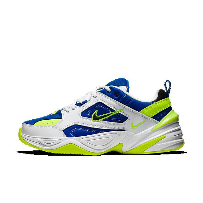 Nike M2K Tekno (White / Black - Volt - Racer Blue)