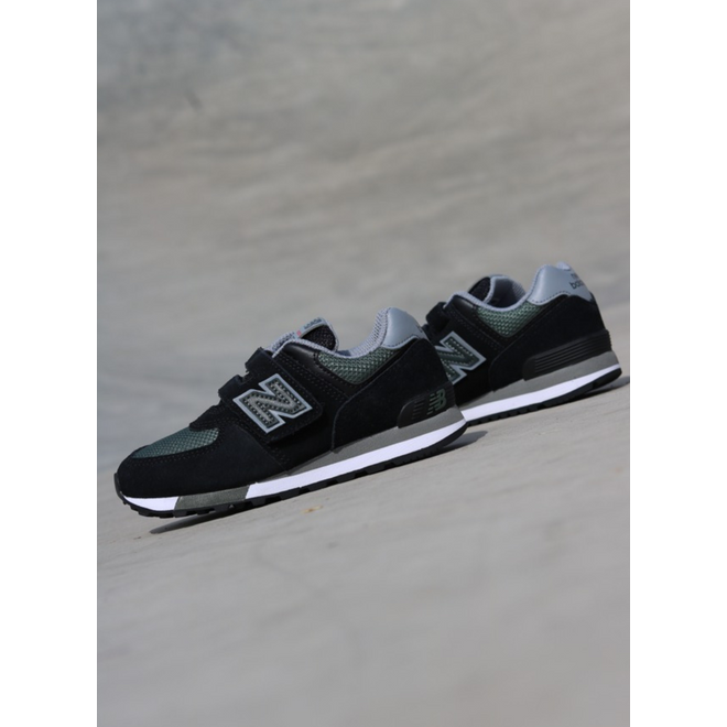 New Balance 574 Black/Green PS