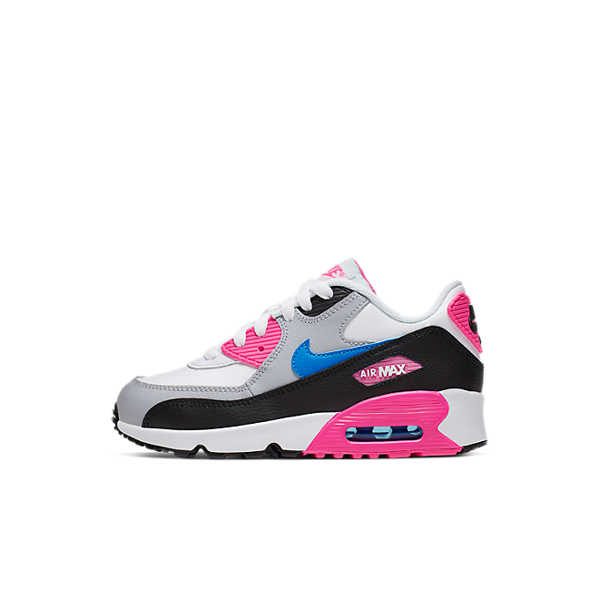 Nike Girls' Air Max 90 Leather (PS) Pre-School Shoe