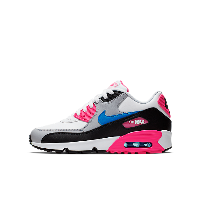 Damen Sneaker Air Max 90 LTR GS White Black Pink 833376 107