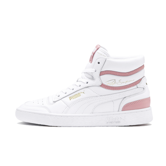 Puma Ralp Sampson High 'White/Pink' zijaanzicht