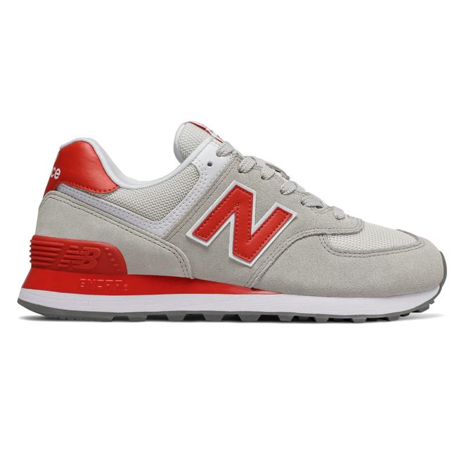 New Balance 574 Grey/ Red | WL574WNB