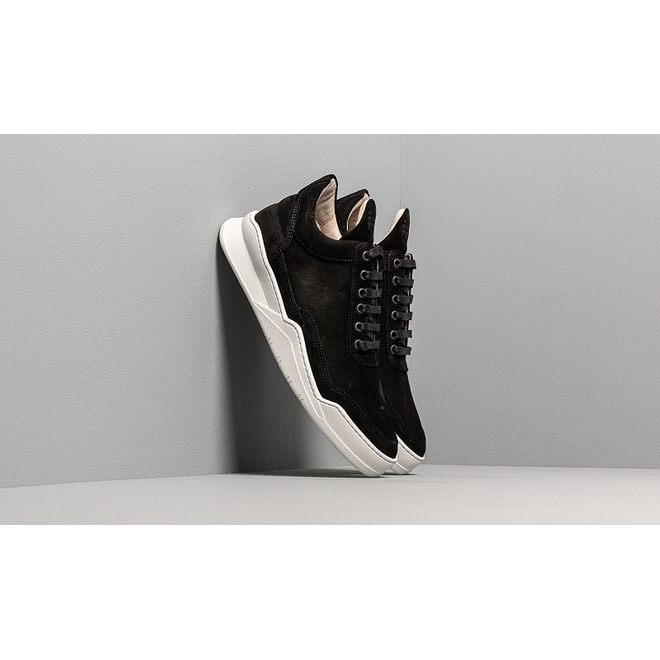 Filling Pieces Low Top Ghost Suede Black