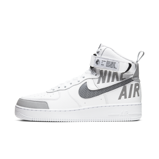 Nike Air Force 1 High 'White' zijaanzicht