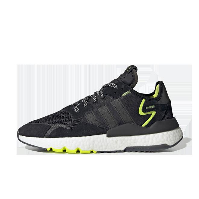 adidas Nite Jogger 'Black/Neon' zijaanzicht