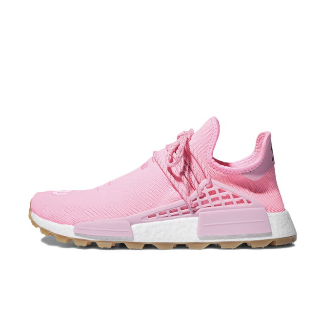 Pharrell Williams x adidas NMD Hu Trail 'Pink' zijaanzicht