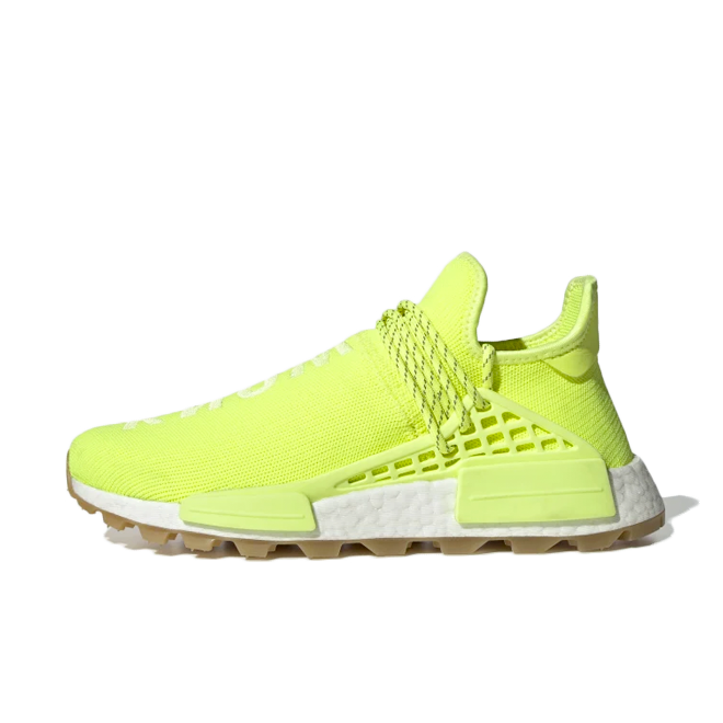Pharrell Williams x adidas NMD Hu Trail 'Yellow' zijaanzicht