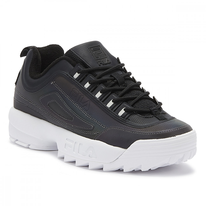 Fila Disruptor II Premium Phase Shift Womens Black / White Trainers