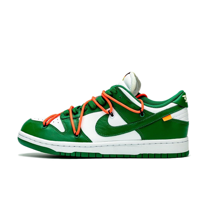 Off White X Nike Dunk Low 'Pine Green' zijaanzicht