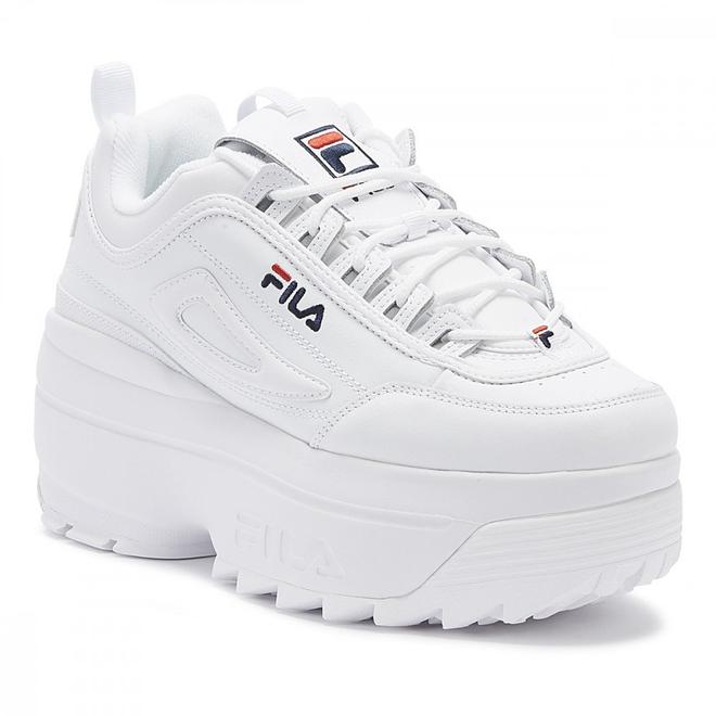 Fila Disruptor II Wedge Womens White Trainers