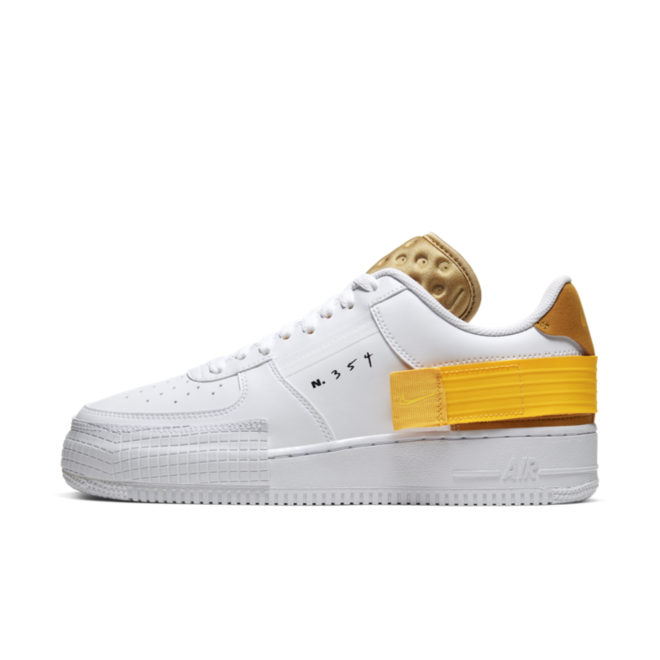 Nike Air Force 1 Type 'N354' - Yellow zijaanzicht