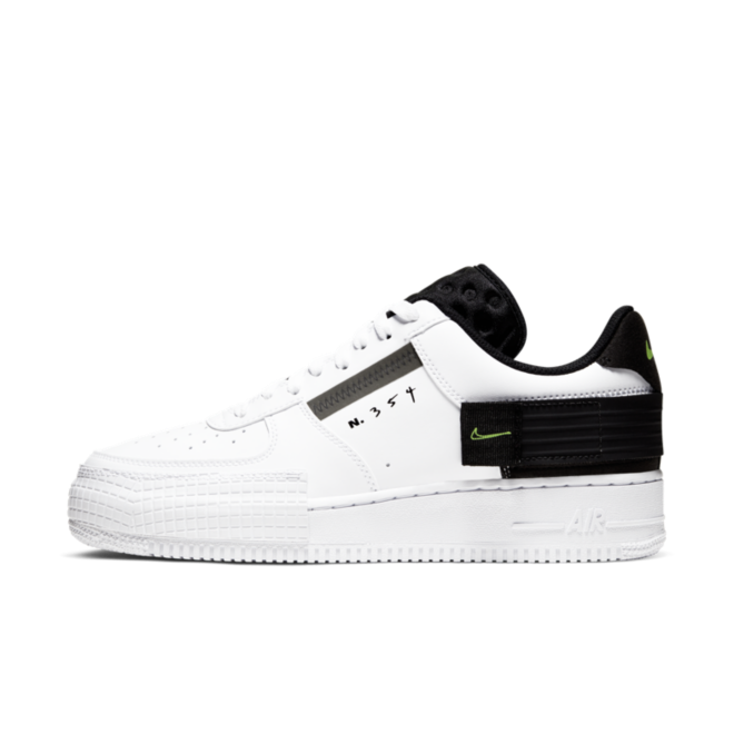 Nike Air Force 1 Type 'N354' - Black & White zijaanzicht