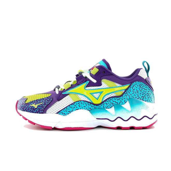 Mizuno Wave Rider 1 Fresh Pack 'Lime Punch' zijaanzicht