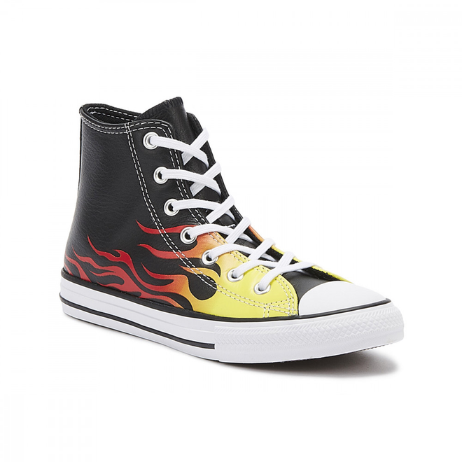Converse Chuck Taylor All Star Youth Black / Fresh Yellow Hi Trainers